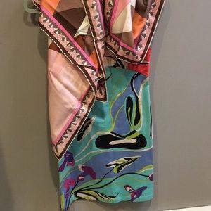 Emilio Pucci dress and scarf
